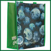 Green pp nonwoven shop bag,nonwoven grocery bag with lamination,nonwoven insulated bag