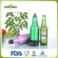 Hot sale beer bottle shape 500ml single wall aluminium sports water bottles