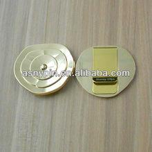 all metal gold flower design cash clip money clip