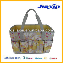 flower pattern garden tote tool bag
