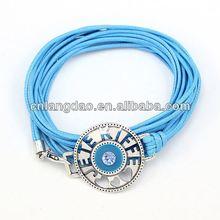 Promotional Ideas HETEKIFFE Heart Cutting metal pendant Jewelry bracelet 2014 Wholesale