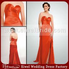 13736 Beautiful Sweetheart Orange Front Split Plus Size Prom Dress 2013