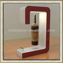 acrylic led magnetic floating bottle display stand, led acrylic magnet levitating display for wine