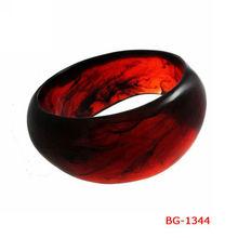 BG-1344 2014 New Fashion Bangles new design bangles Handmade Resin Bangles Bracelets and Cuffs Dark Red Resin resin rigidBangles
