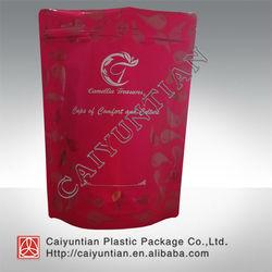 Food grade standing plastic food bag/ aluminm foil food bag with ziplock