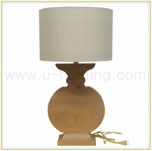 Home Works Solid Wood Heavy Based Table Lamp rgb led light table