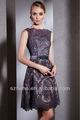 Frete grátis!!! Cy468 elegante uma linha acima do joelho comprimento curto a mãe da noiva vestidos de renda