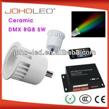 with synchronous and memory function 3w rgb cob spotlight/rgb led spotlight/led light rgb/dmx rgb led downlight