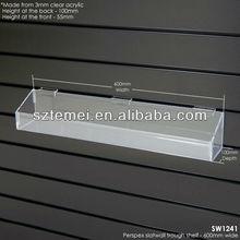 Clear Acrylic Slat wall Shelves