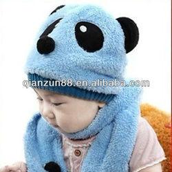 plush winter bear pattern animal hat children hat