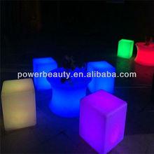led furniture rgb led cube light decorative seat outdoor
