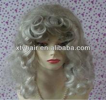Wholesale alibaba grey curly hair wigs