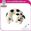 Plush animal patterns pillow dog shaped design travel neck pillow for kids