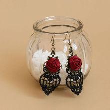 MYLOVE fashion earring heart rose for women christma gift MLEH41