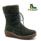 Winter Shoes Women Leather Flat Shoes / Fujian Shoes Hollidy Footwear
