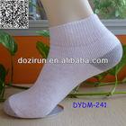 white terry ankle socks