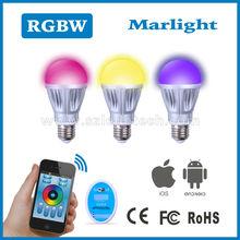 4 channel keys 2.4G rf remote controller rgb+w e14 led bulb