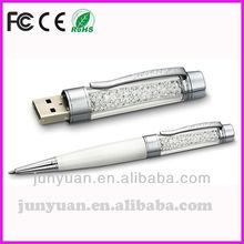 pen shape crystal USB flash disk
