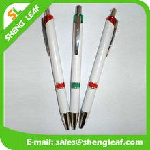 Metal clip pen advertising cheap ballpoint plastic pen