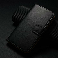best quality original genuine wallet leather case for samsung galaxy s4 active