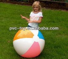 "36"" 4 Color Beach Ball - Aqua, Orange, Pink & White"