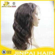 JP hair virgin brazilian hair full lace wig for white women