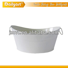 Multipurpose metal oval shaped ice bucket