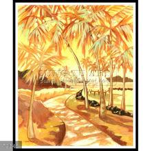 Handmade Tropical Hawaii Natural scenery oil paintings, kona village