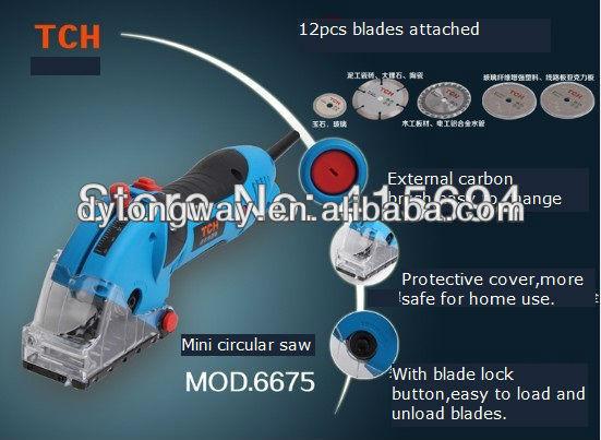 Sıcak satış! Mini elektrikli testere, rotorazer, fonksiyonlu elektrikli el aletleri. Ahşap için, metal, granit, mermer, çini, tuğla