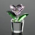 Hermosa flor de cristal para regalos de bodas