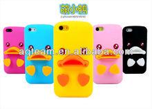 3D Cartoon Cute Duck Design Silicon Soft Case For iphone 5c