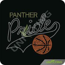 Panther pride basketball rhinestone transfer designs basketball