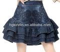 2014 primavera venda quente nos eua qualidade denim saias curtas