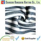 navy cotton stripe knit fabric