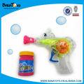 Jouet d'été de gros pistolet de bulle pour les enfants avec la lumière