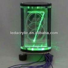 Edge-lit LED Acrylic Nixie Tube Style Display