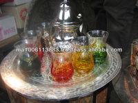 hot morocco tea glasses