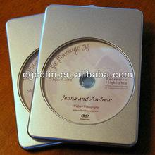 Plain rectangular dvd tin case