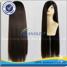 aaaaa remy do cabelo humano atacado cheia do laço do cabelo peruca feminina