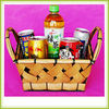Handmade Cheap wooden gift baskets handicraft