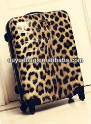 Hot sale ladies panther print luggage bag/ laptop case