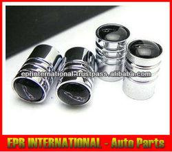 Type B Shinny Glossy Polished Tire Chrome Metal Valve Cap For Jaguar