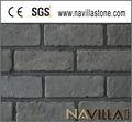 artificial laminado cinza escuro tijolos da parede de acabamento