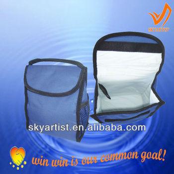 outdoor food and wine bottle cooler bag