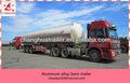 China proveedor eje 3 46.2 cbm ethy lamine del tanque de combustible cisterna de aluminio semi- remolque de transporte del tanque con sistema hidráulico
