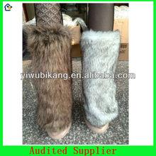 Woman Wool and Rabbit Leg Warmers Beautiful Legs Warms Socks
