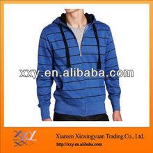 Blue And Black Pinstripe Hoodies For Men Hot Sale In America