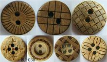 Fashion wooden 2-holes 4-holes button overcoat button decoration