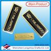 Elegant Metal Epoxy Name Badge Holder With Safety Pin,Black Soft Enamel Metal Name Pin Badges For Sale