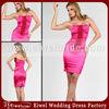 AT021 Hot Pink Sheathy Short Junior Cocktail Dress